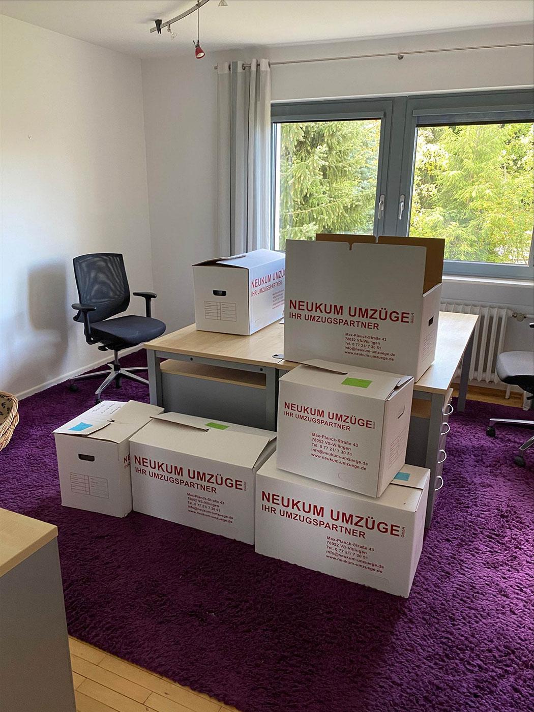 Alles gepackt und abholbereit für das Umzugsunternehmen